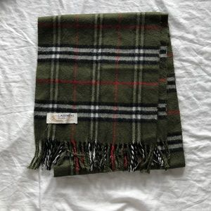 Accessories - Green Plaid Cashmere Scarf